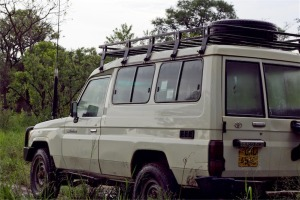 Our vehicle to get around Northern Uganda - much needed!