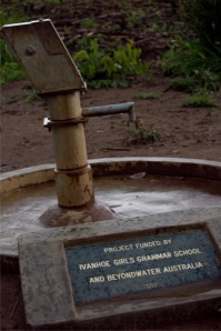A deep bore well about an hours' drive from Kitgum