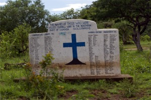 One of the many memorials around Northern Uganda