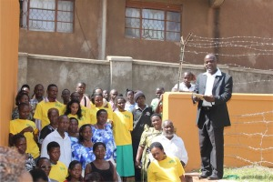 In Kampala at the opening of the water project