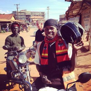 Our boda drivers in Uganda