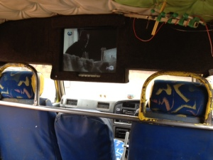 my view from inside the matatu