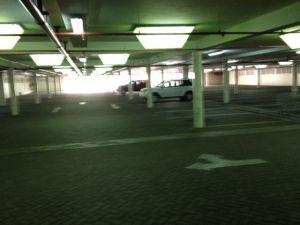 Normally this carpark is full