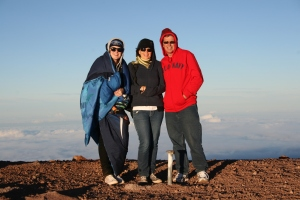 This is us on top of Mauna Kea in Hawaii before I went to school there.