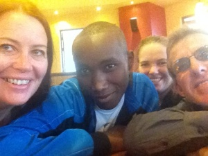 Us with Chege at Java