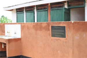 The toilet blocks we fundraised for