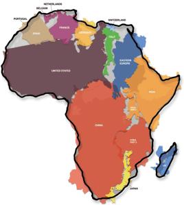 Africa is huge.