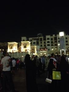 Dubai at night.