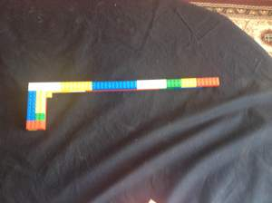 Lizzies Lego gun she made to protect herself.