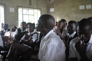 These students are in school for 11 hours each day. We got to spend an hour with them.