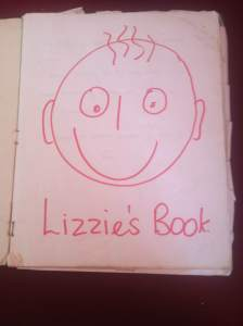 Here is Lizzies first speech therapy workbook.